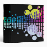 rainbow sound waves abstract notebook binder