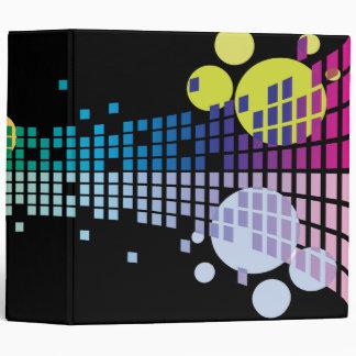 rainbow sound waves abstract notebook vinyl binder