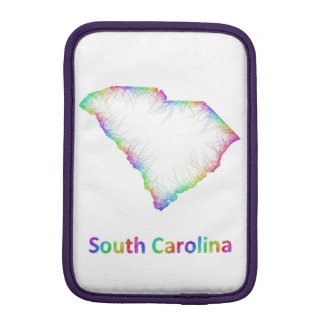Rainbow South Carolina map iPad Mini Sleeve