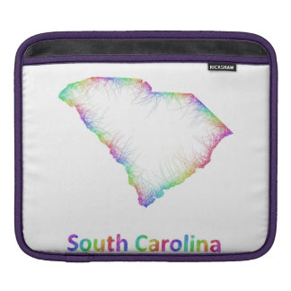 Rainbow South Carolina map Sleeve For iPads