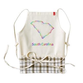 Rainbow South Carolina map Zazzle HEART Apron