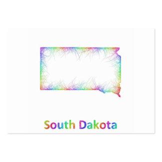 Rainbow South Dakota map Large Business Card