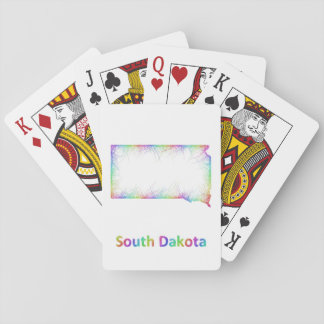 Rainbow South Dakota map Playing Cards