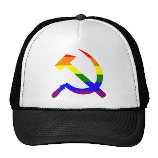 Rainbow Soviet Hammer And Sickle Trucker Hat