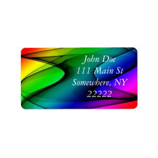Rainbow Spectrum Abstract Address Label