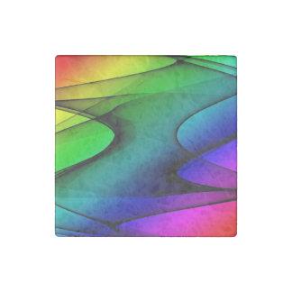 Rainbow Spectrum Abstract Stone Magnet