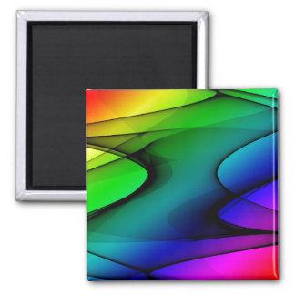 Rainbow Spectrum Abstract Fridge Magnets