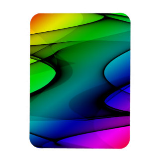 Rainbow Spectrum Abstract Rectangular Magnets