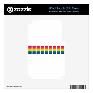 Rainbow Spectrum Blocks Skins For iPod Touch 4G