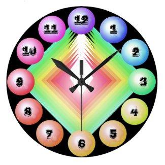 Rainbow Spectrum Bold Designer Fun Decor Large Clock