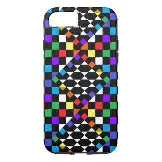 Rainbow Spectrum Checkerboard Trendy CricketDiane iPhone 8/7 Case