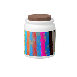 Rainbow Spectrum Color Band Waterfall Candy Jars