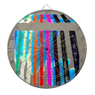 Rainbow Spectrum Color Band Waterfall Dartboard With Darts
