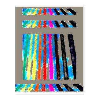 Rainbow Spectrum Color Band Waterfall Postcard