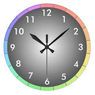 Rainbow Spectrum Color Contemporary Designer Clock