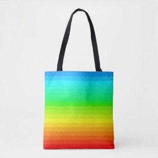 Rainbow Spectrum Colors PRIDE LGBT Beach Bag