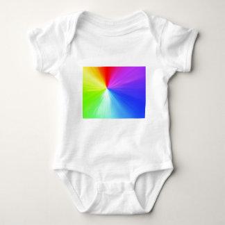 Rainbow spectrum design baby bodysuit