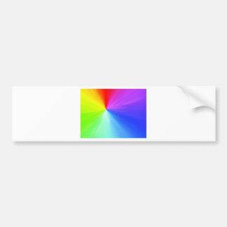 Rainbow spectrum design bumper sticker