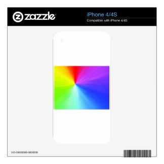 Rainbow spectrum design decals for the iPhone 4S