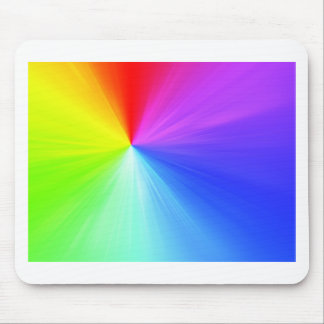 Rainbow spectrum design mouse pad