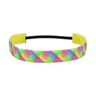 Rainbow Spectrum Spiral Elastic Headbands