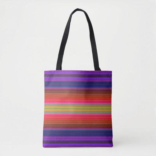 Rainbow Spectrum Stripe Pattern Tote Bag