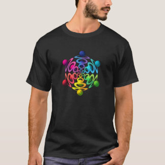 Rainbow Sphere Popper Adult Basic T-Shirt