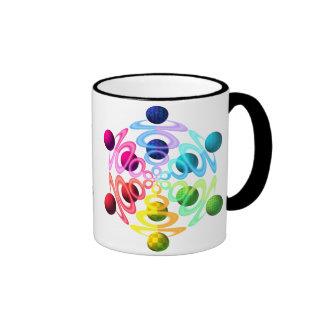 Rainbow Sphere Popper Ringer Coffee Mug