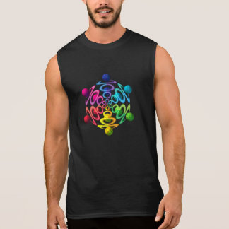 Rainbow Sphere Popper Sleeveless Cotton T-Shirt