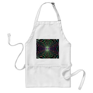 Rainbow Spider Web Fractal Adult Apron