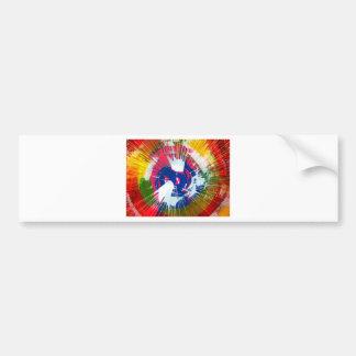 Rainbow Spin Art Bumper Sticker