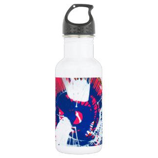 Rainbow Spin Art Stainless Steel Water Bottle