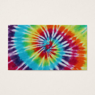 Rainbow Spiral 2 Sides Business Card