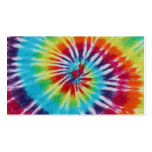 Rainbow Spiral 2 Sides Business Card Template