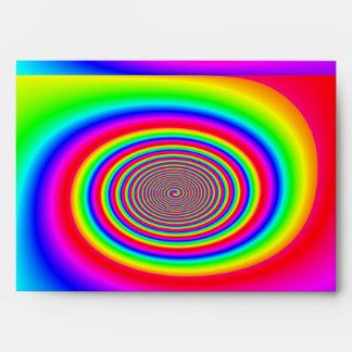 Rainbow spiral abstract design envelope