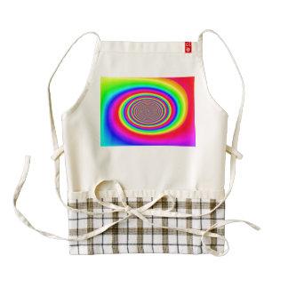 Rainbow spiral abstract design zazzle HEART apron