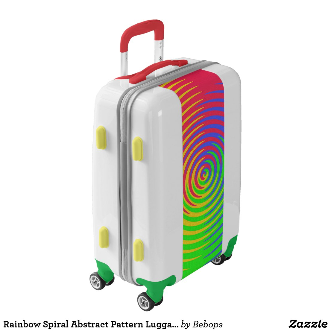 Rainbow Spiral Abstract Pattern Luggage