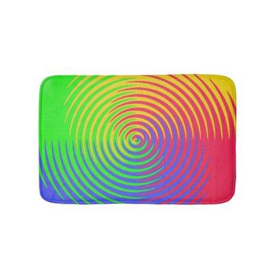 Rainbow Spiral Bath Mats