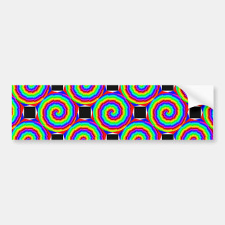 Rainbow Spiral Bumper Sticker