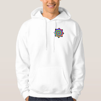 Rainbow Spiral by Kenneth Yoncich Hoodie