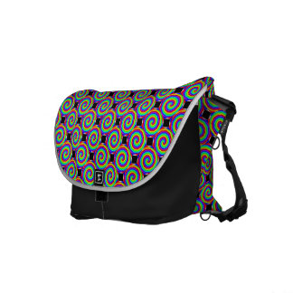 Rainbow Spiral by Kenneth Yoncich Messenger Bag