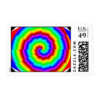 Rainbow Spiral by Kenneth Yoncich Postage