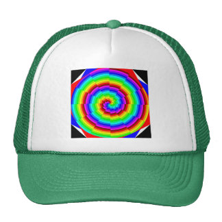 Rainbow Spiral by Kenneth Yoncich Trucker Hat