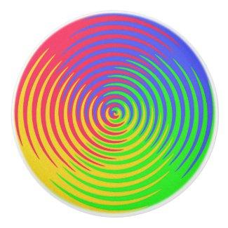 Rainbow Spiral Ceramic Knob
