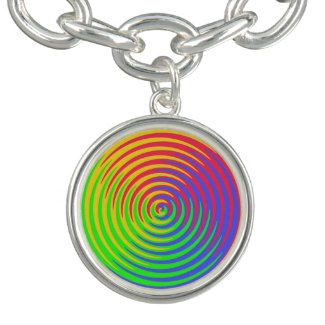 Rainbow Spiral Charm Bracelet