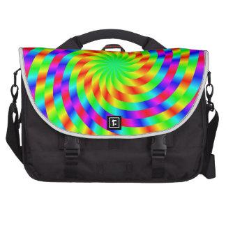 Rainbow spiral computer bag