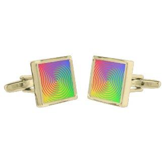 Rainbow Spiral Cufflinks