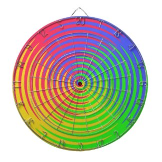 Rainbow Spiral Dartboard