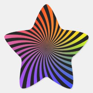Rainbow Spiral Design: Star Sticker