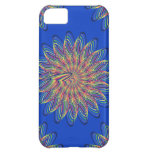 Rainbow Spiral Flower Design - Blue Background iPhone 5C Cover